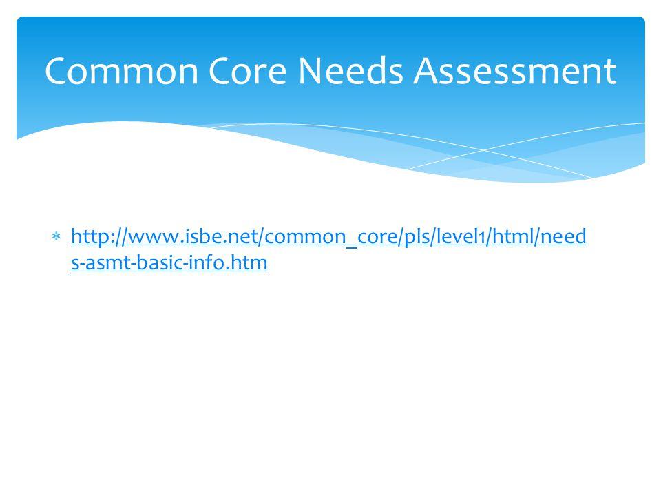  http://www.isbe.net/common_core/pls/level1/html/need s-asmt-basic-info.htm http://www.isbe.net/common_core/pls/level1/html/need s-asmt-basic-info.ht