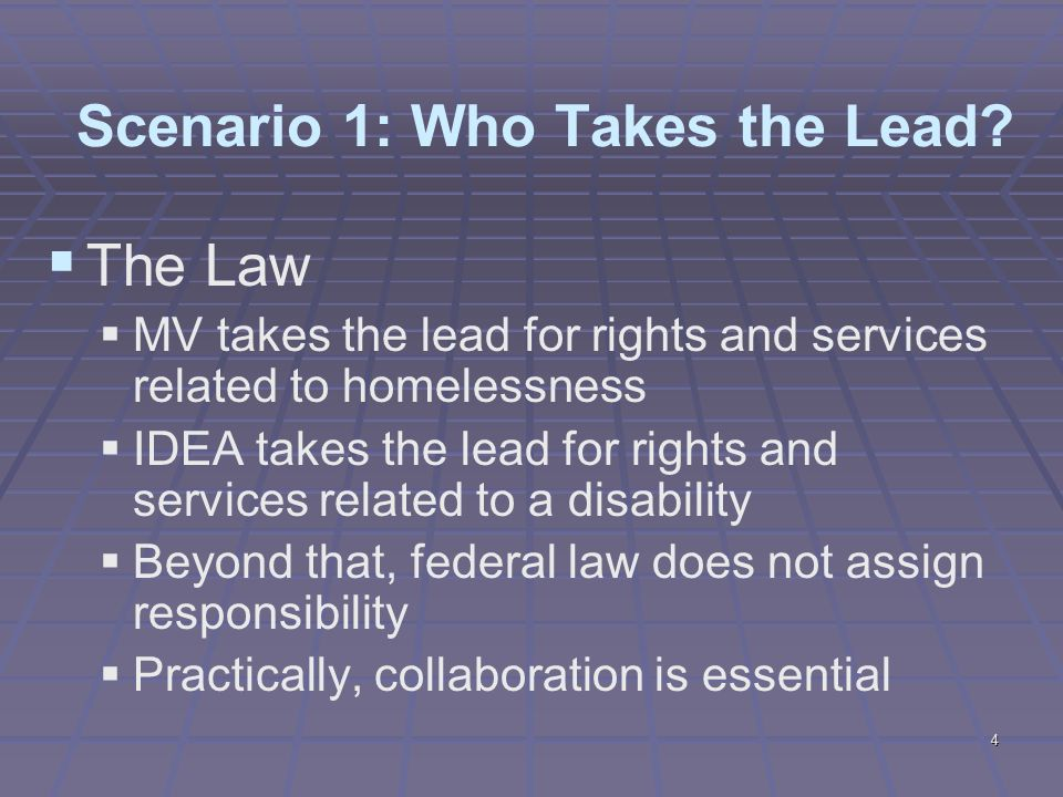 4 Scenario 1: Who Takes the Lead.