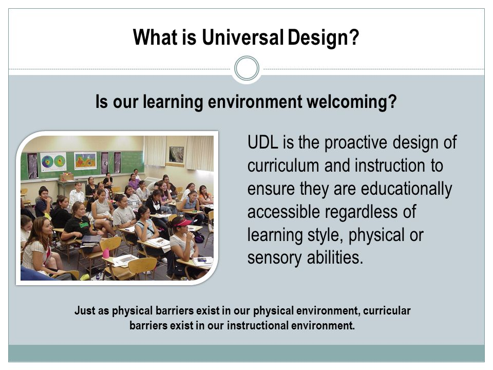 Is our learning environment welcoming.