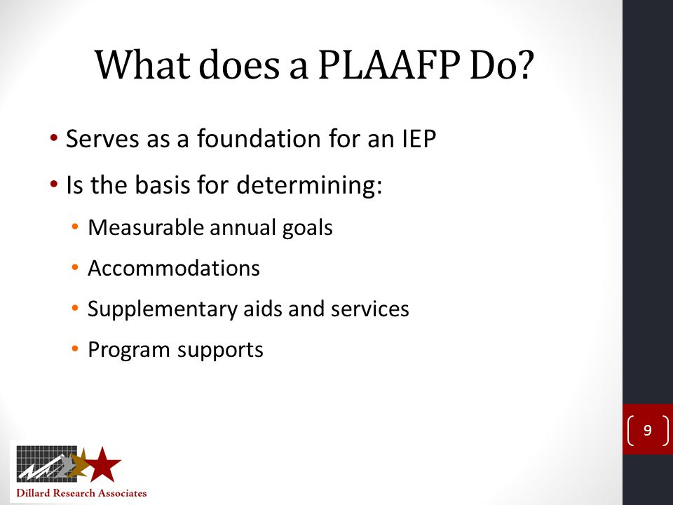 What does a PLAAFP Do.