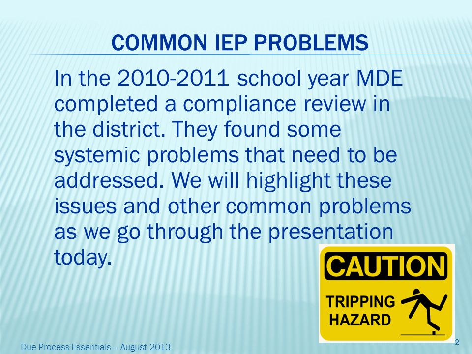UPCOMING MDE REVIEW This year we are responsible to complete a self-review in preparation for an on-site compliance review by MDE scheduled for the 15-16 school year.