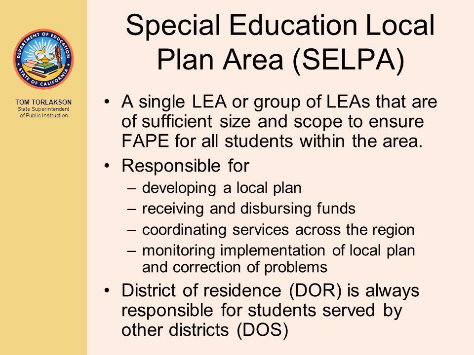 Individuals with Disabilities Education Act (IDEA) 34 CFR 300 et seq 30 EC 56000 et seq 5 CCR 3000 et seq AB 114 AB 3632 Chapter 26.5 of Govt.