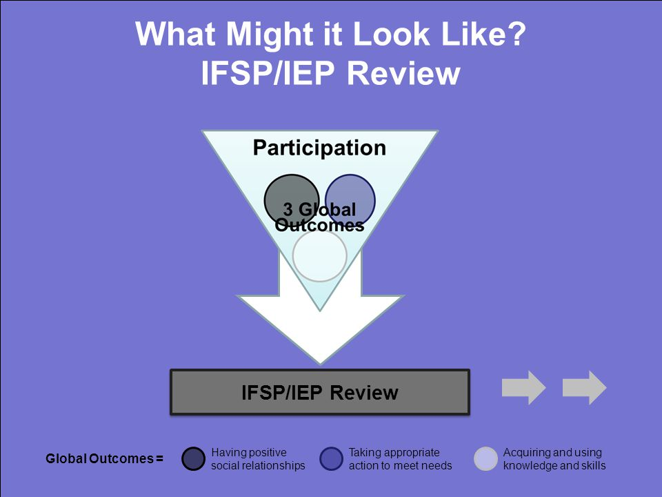 IFSP/IEP Review What Might it Look Like.