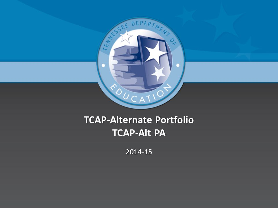 TCAP-Alternate Portfolio TCAP-Alt PA 2014-15