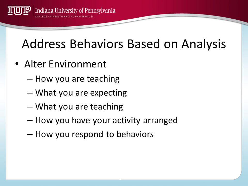 Implementing a Behavior Modification Program 1.Identifying the target behavior 2.