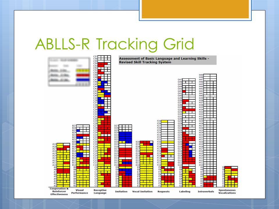 ABLLS-R Tracking Grid