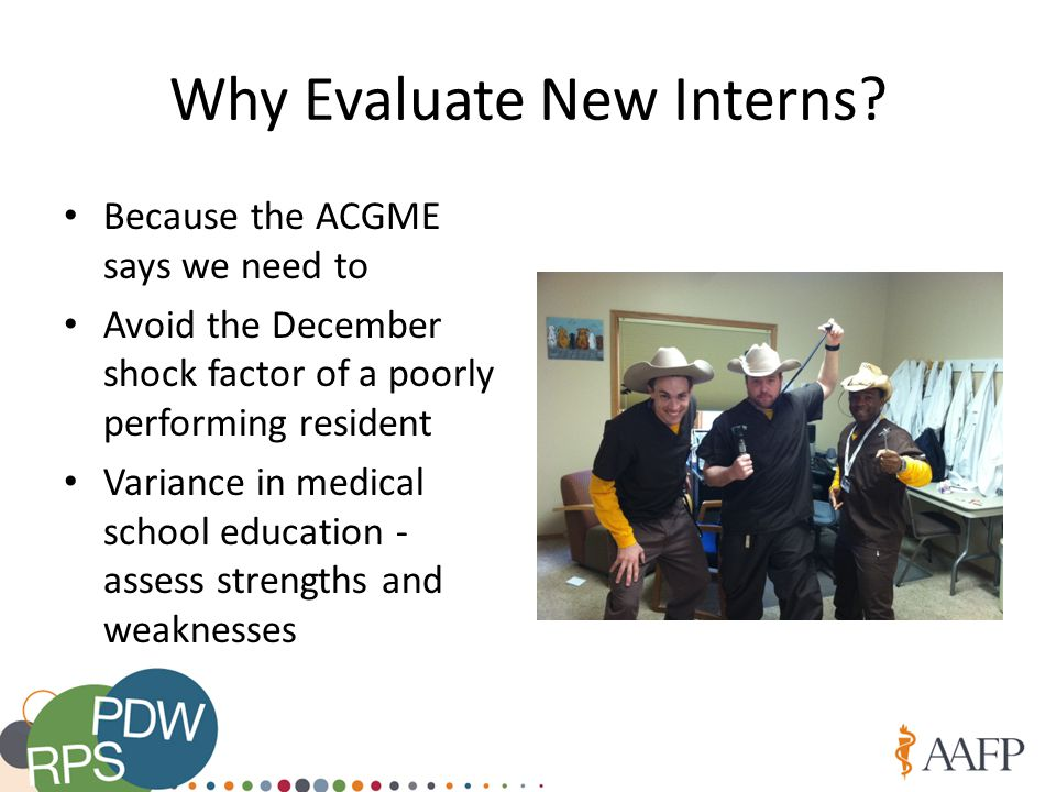 Why Evaluate New Interns.