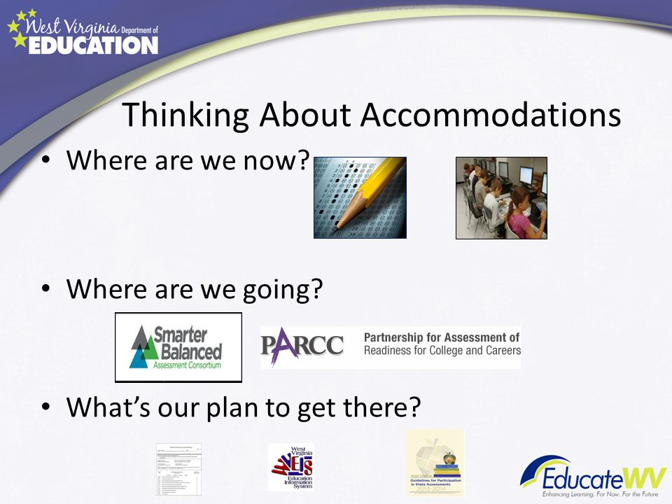 Thinking About Accommodations Where are we now Where are we going What's our plan to get there