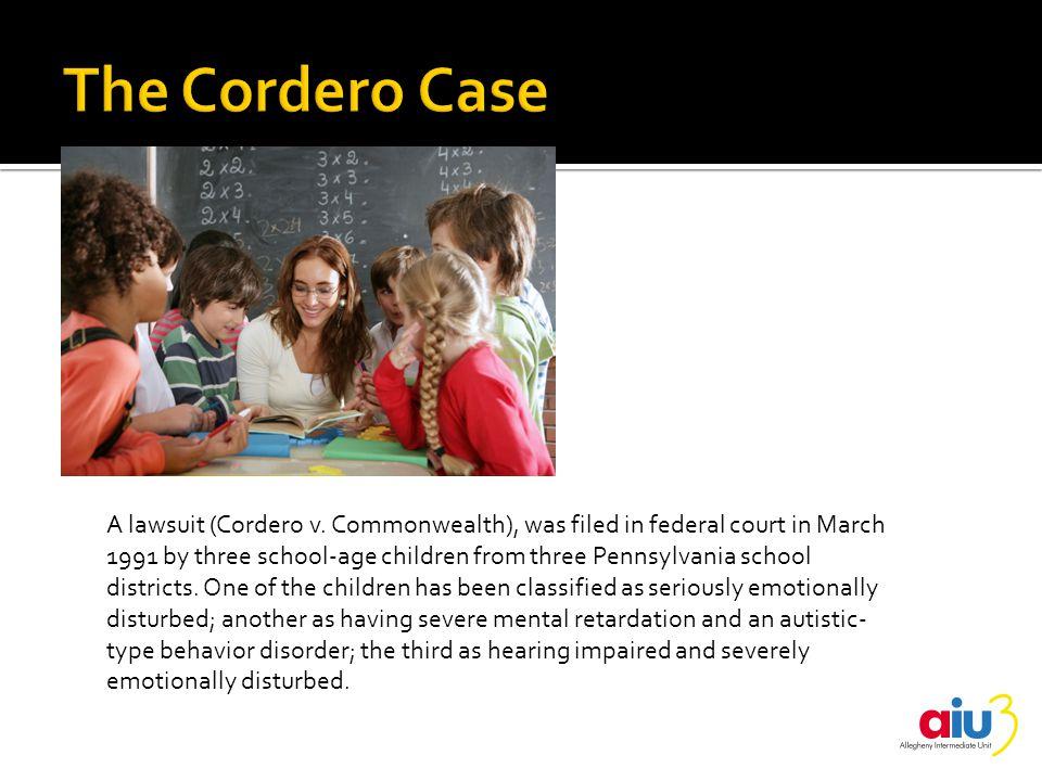 A lawsuit (Cordero v.