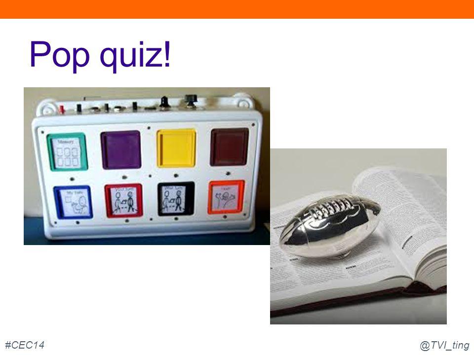 Pop quiz! @TVI_ting#CEC14