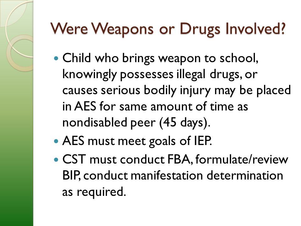 Were Weapons or Drugs Involved.