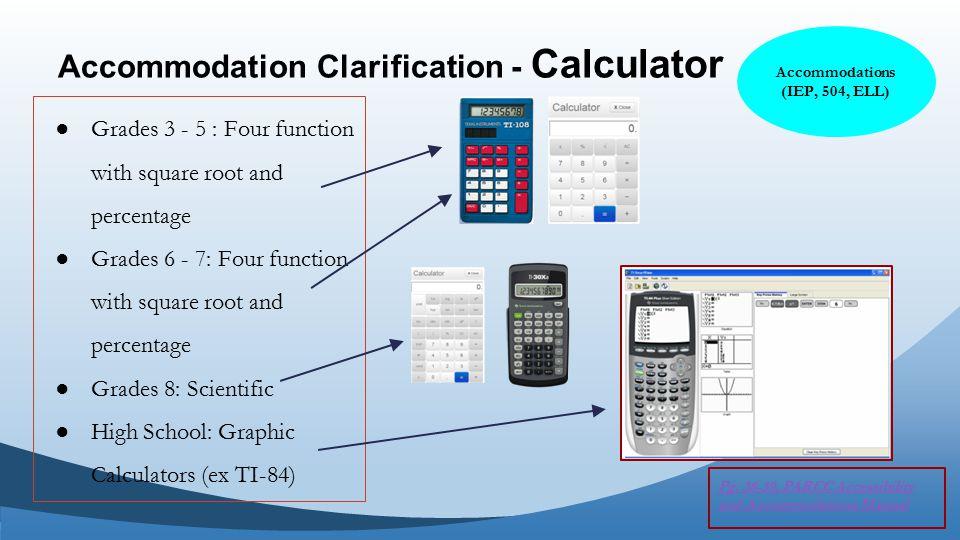 Accommodation Clarification - Calculator Pg.