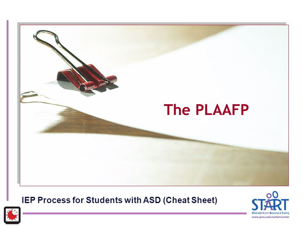 The PLAAFP IEP Process for Students with ASD (Cheat Sheet)