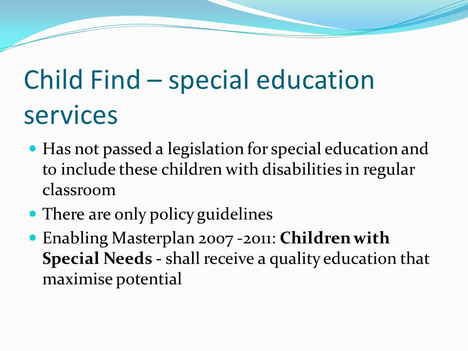The Individualized Educational Program (IEP) in America All children with disability must have an IEP IEP is developed at the beginning at age 3