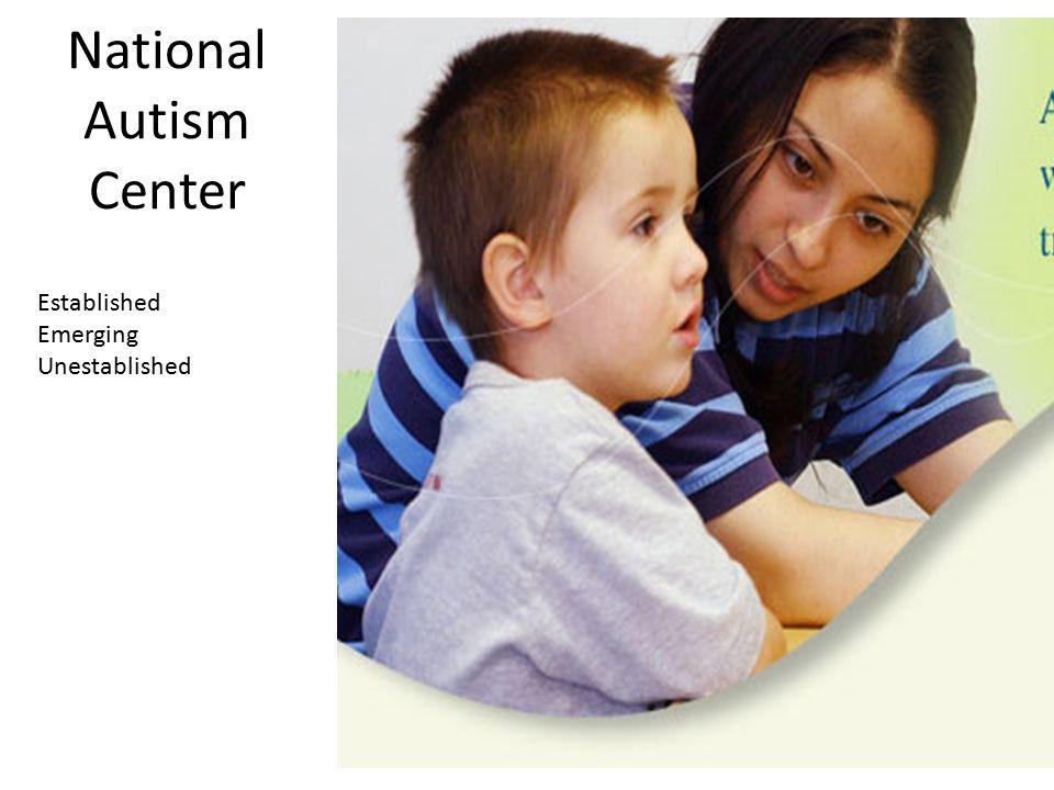National Autism Center Established Emerging Unestablished