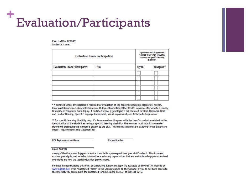 + Evaluation/Participants
