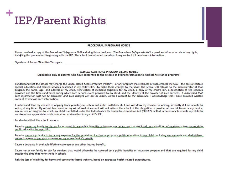 + IEP/Parent Rights