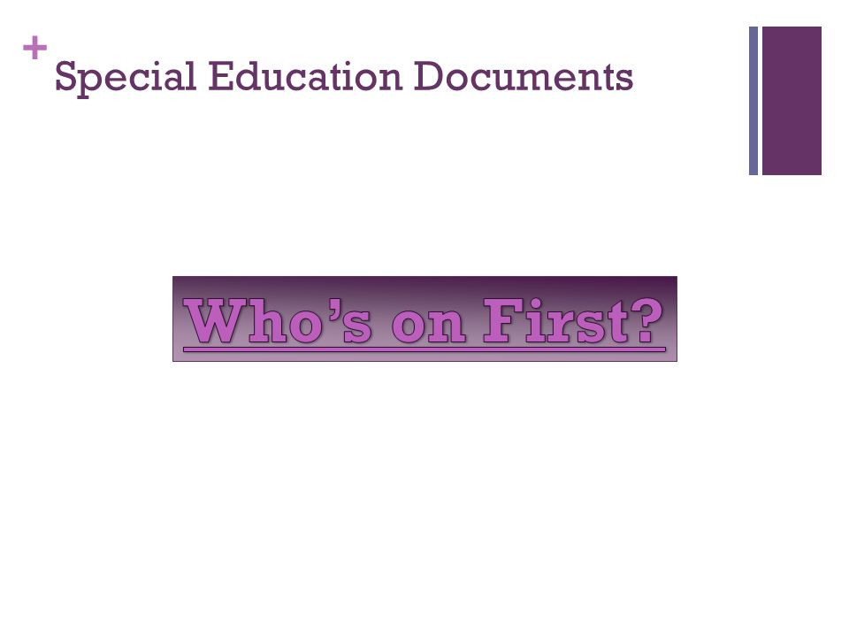 + Special Education Documents