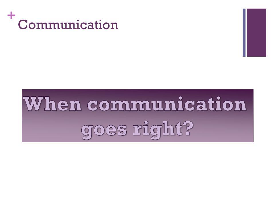 + Communication