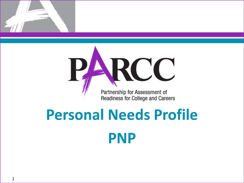 1 Personal Needs Profile PNP