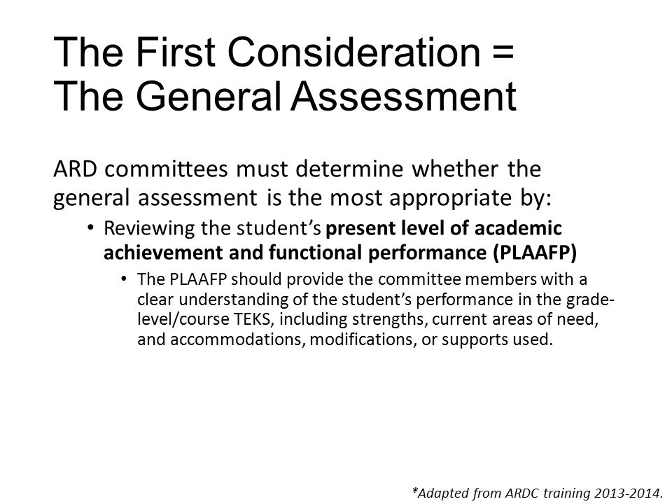 Eligibility Criteria – Question 4 Access to the grade-level curriculum is mandated by the federal government.