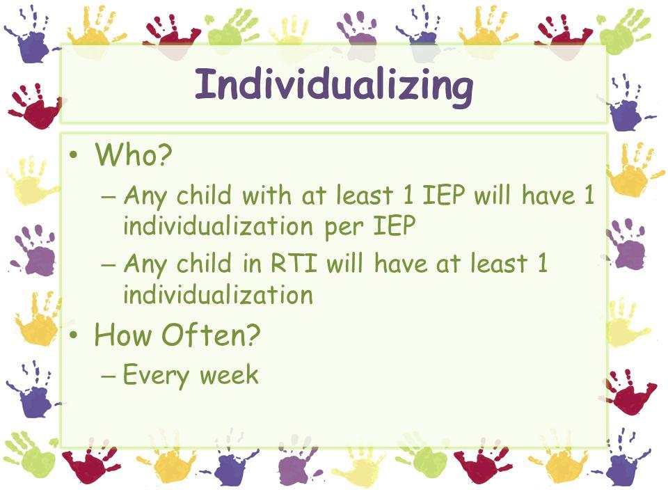 Individualizing Who.