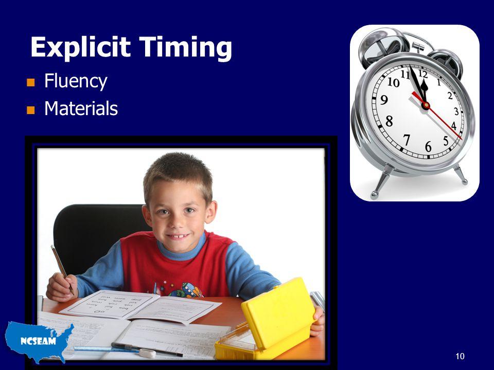 Explicit Timing Fluency Materials 10