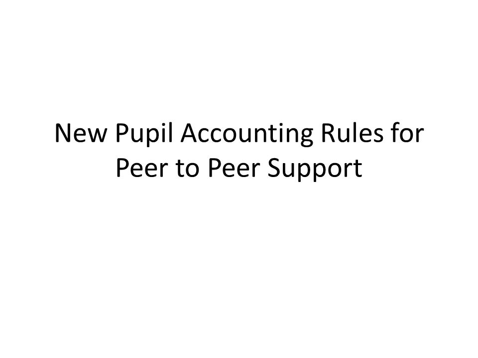 Michigan Department of Education Pupil Accounting Manual November 2012 6B - 1 6B - PEER TO PEER ELECTIVE COURSE CREDIT PROGRAM A) Definition Peer to peer Course Credit Programs represent one model of 21st Century instructional design that incorporates applied (experiential) learning in a non-traditional manner.