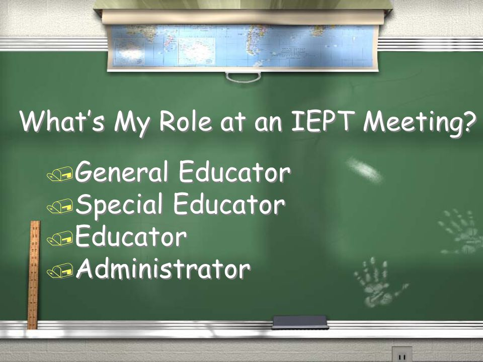 What's My Role at an IEPT Meeting.