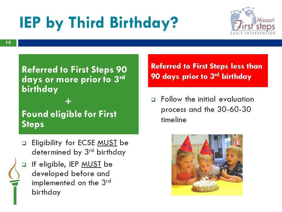 IEP by Third Birthday.