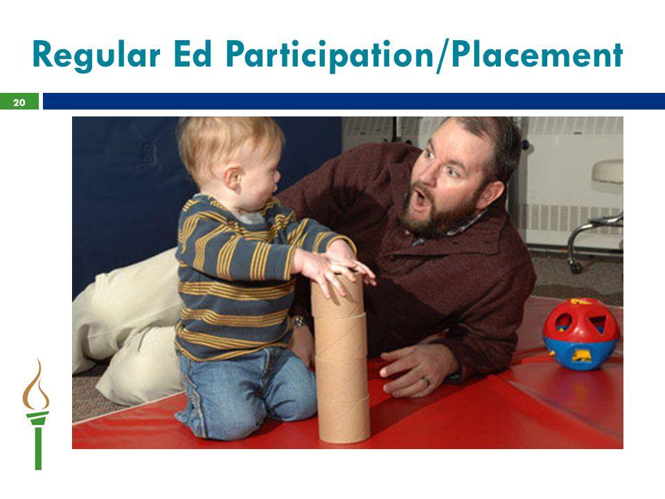 Regular Ed Participation/Placement 20