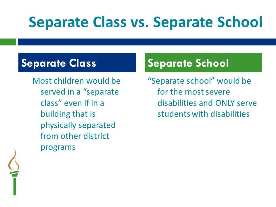 Separate Class vs.