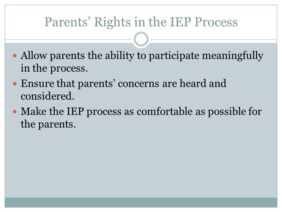 Assessment Students must be evaluated for special education upon the request of their parents.