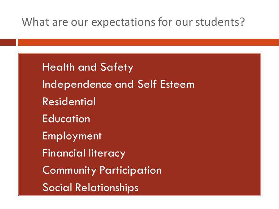 What are our expectations for our students.