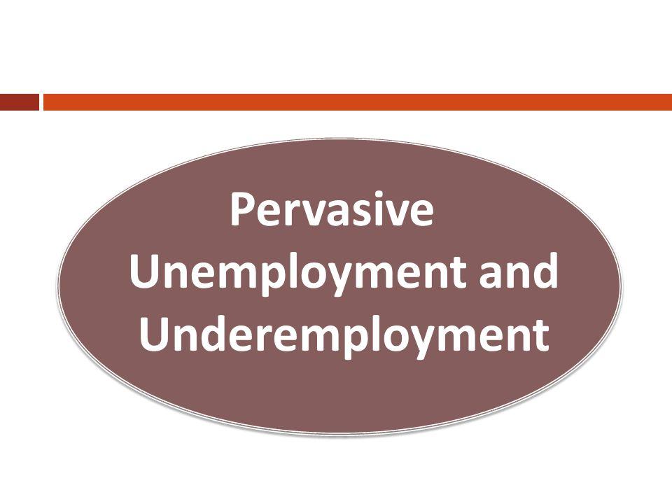 Pervasive Unemployment and Underemployment