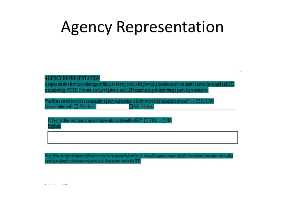 Agency Representation