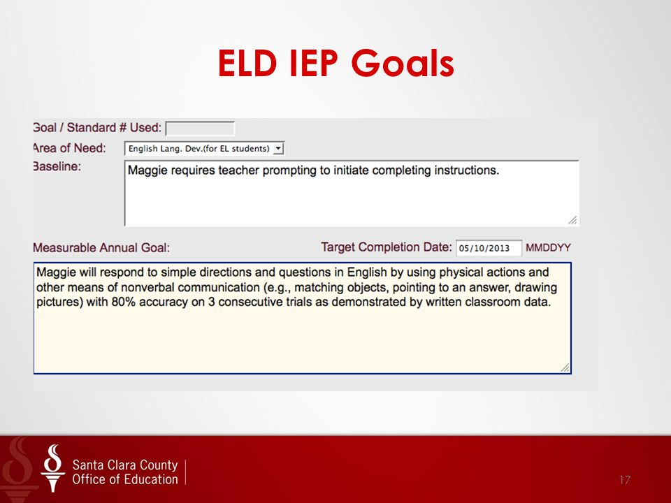 ELD IEP Goals 17