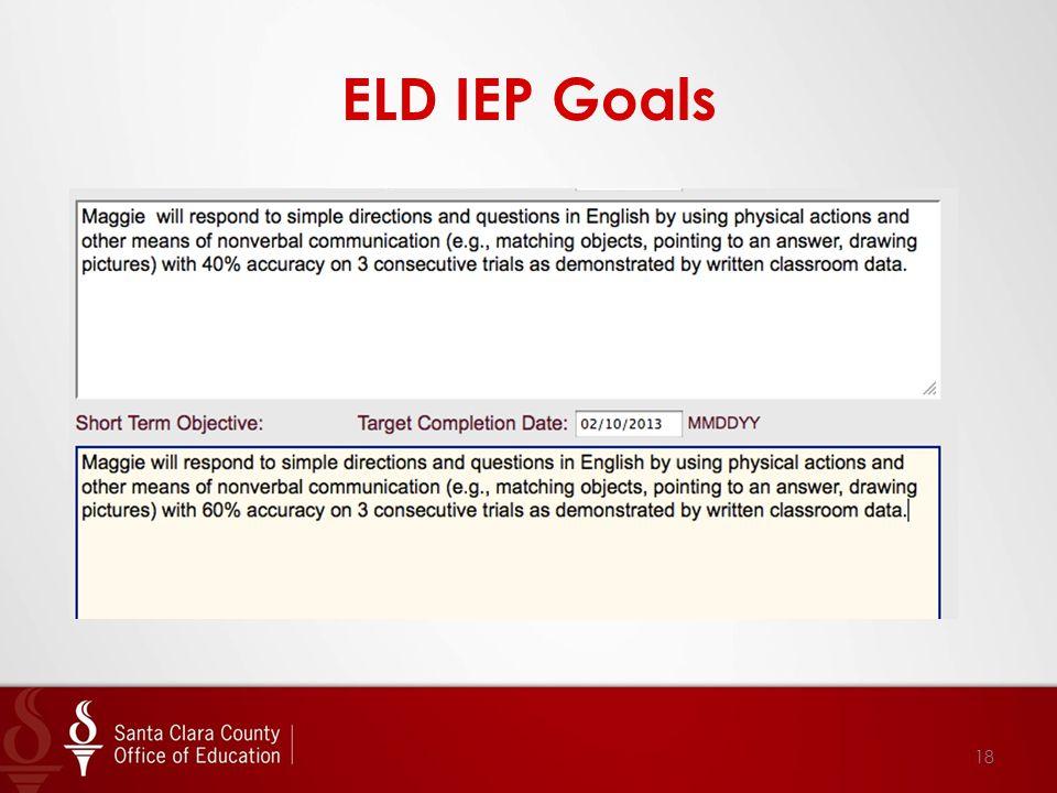 ELD IEP Goals 18