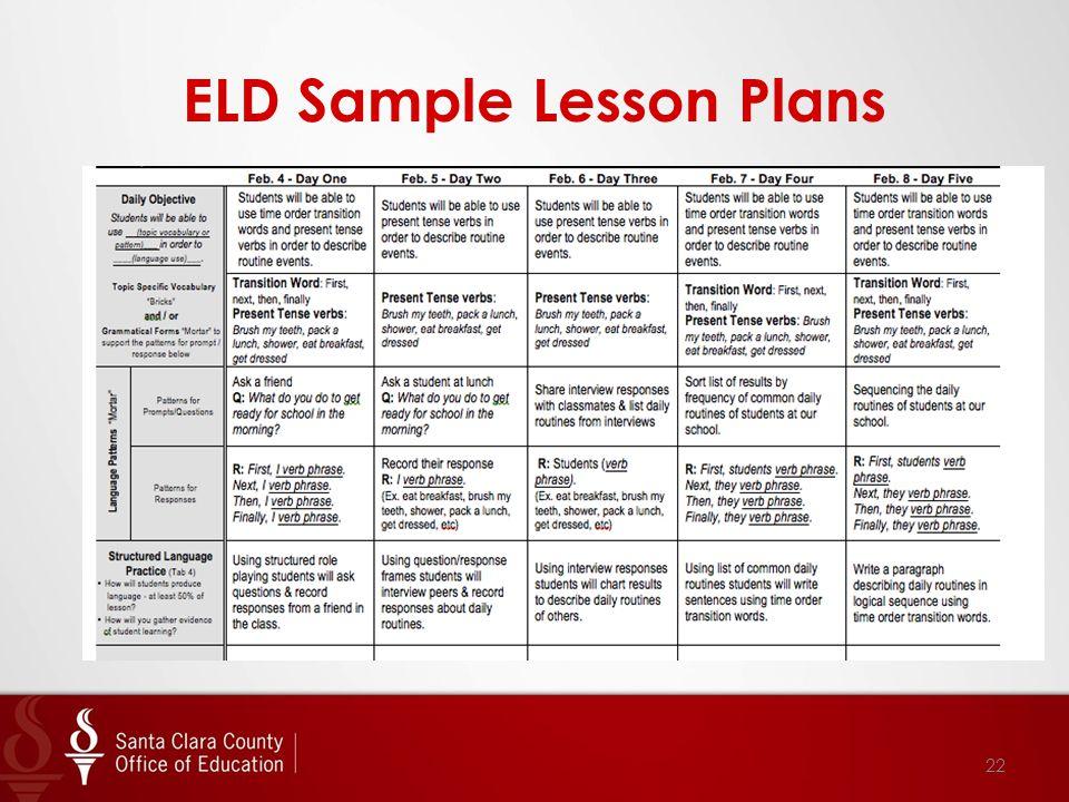 ELD Sample Lesson Plans 22
