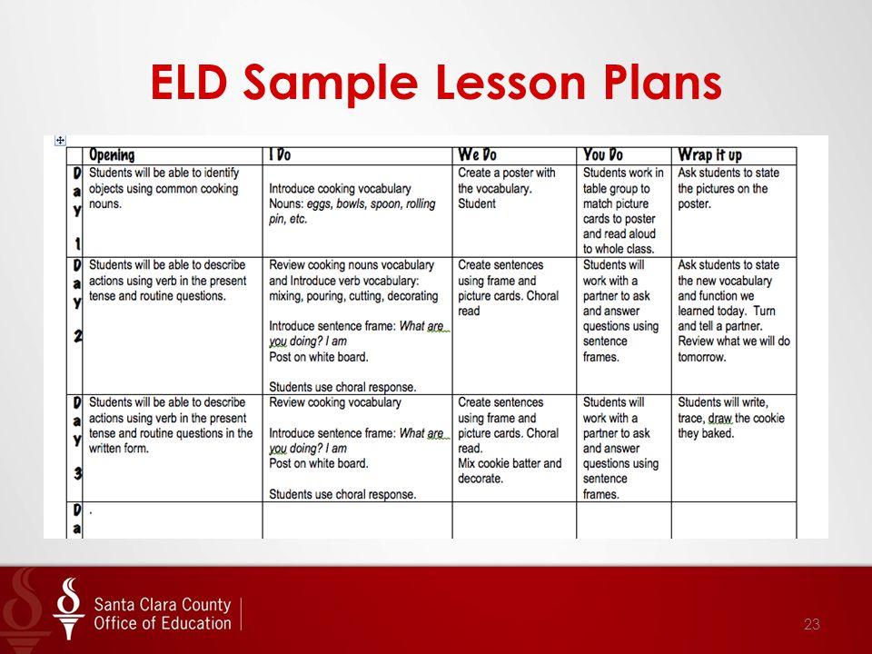 ELD Sample Lesson Plans 23