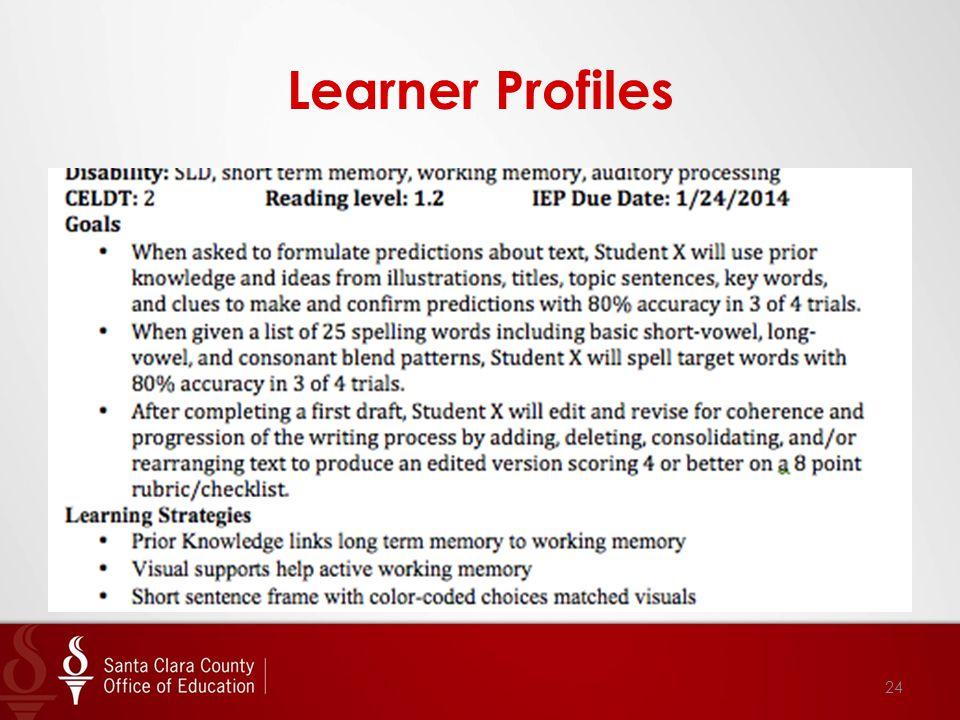 Learner Profiles 24