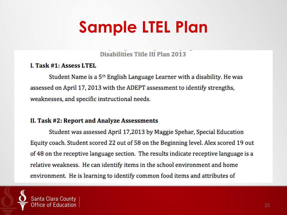 Sample LTEL Plan 25