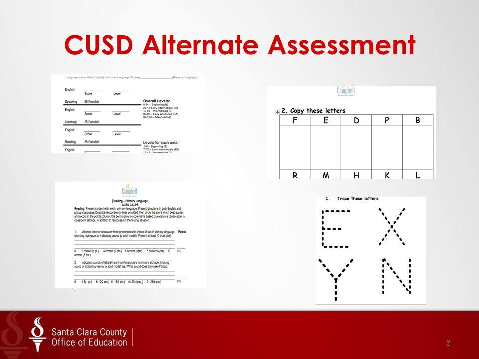 CUSD Alternate Assessment 8