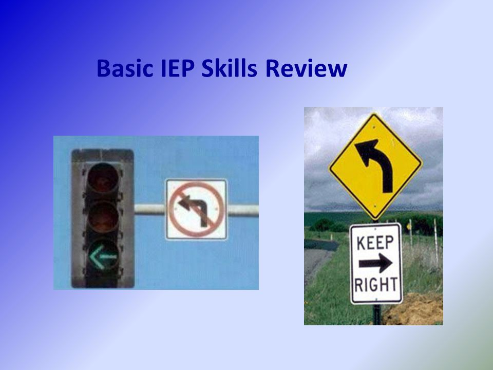 Basic IEP Skills Review