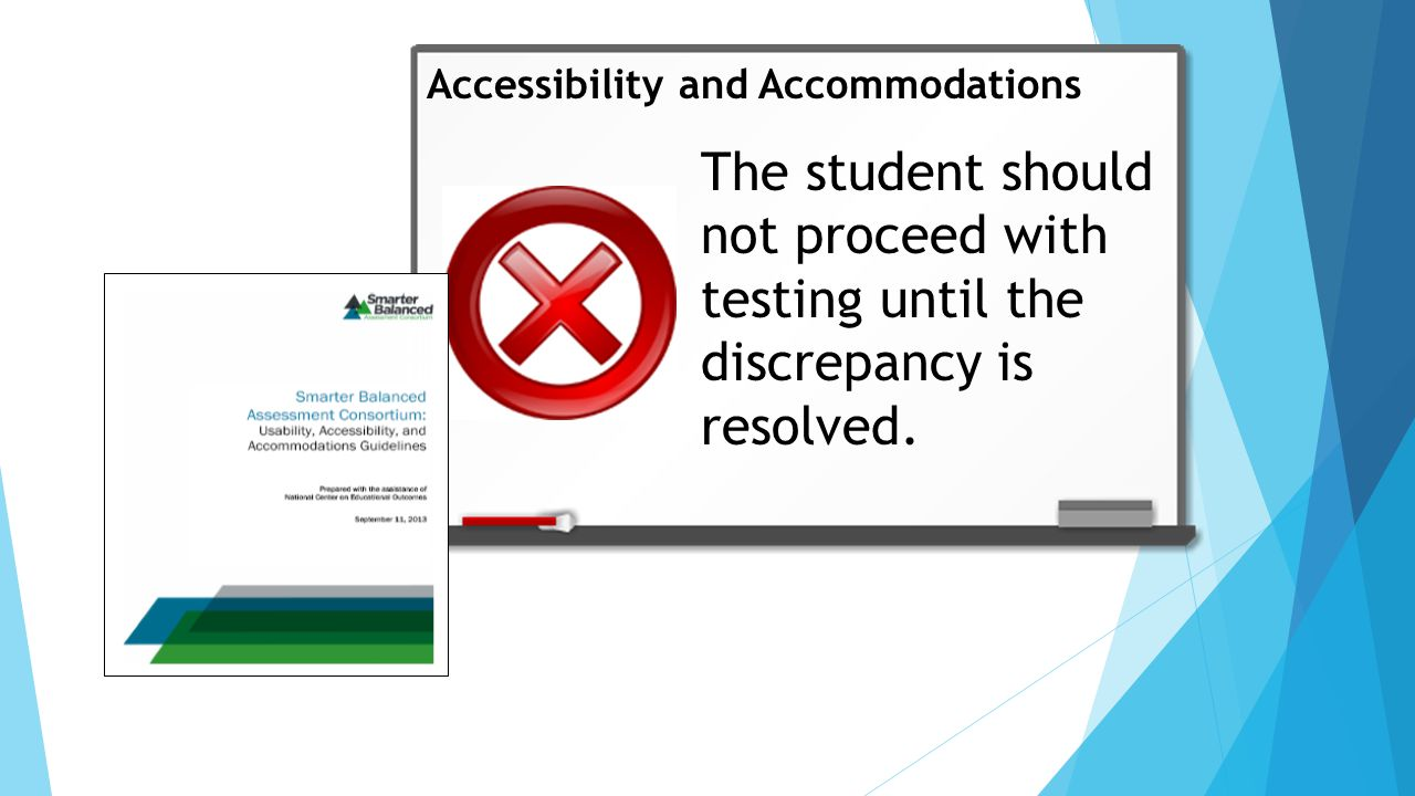 The student should not proceed with testing until the discrepancy is resolved.