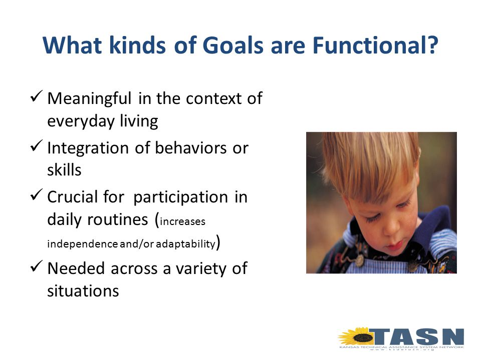 What kinds of Goals are Functional.