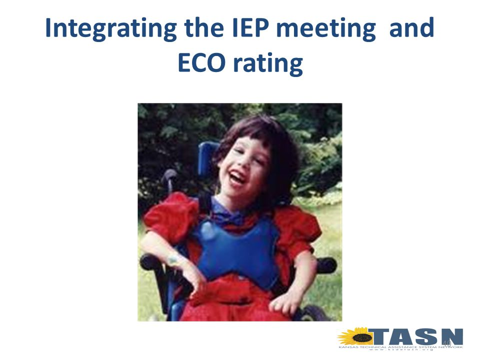40 Integrating the IEP meeting and ECO rating