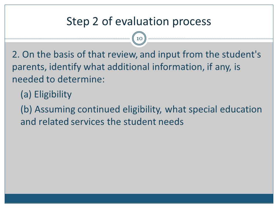 Step 2 of evaluation process 2.