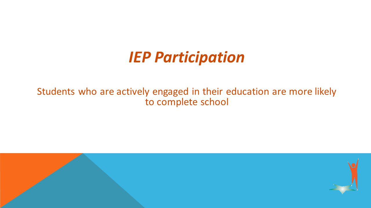IEP Participation Students who are actively engaged in their education are more likely to complete school