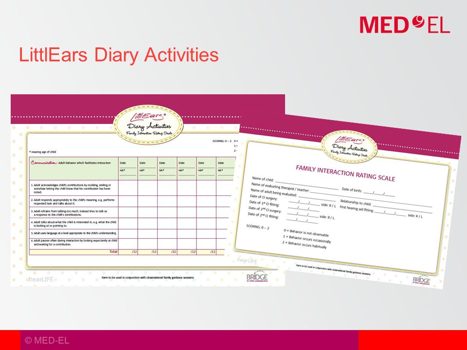 © MED-EL LittlEars Diary Activities